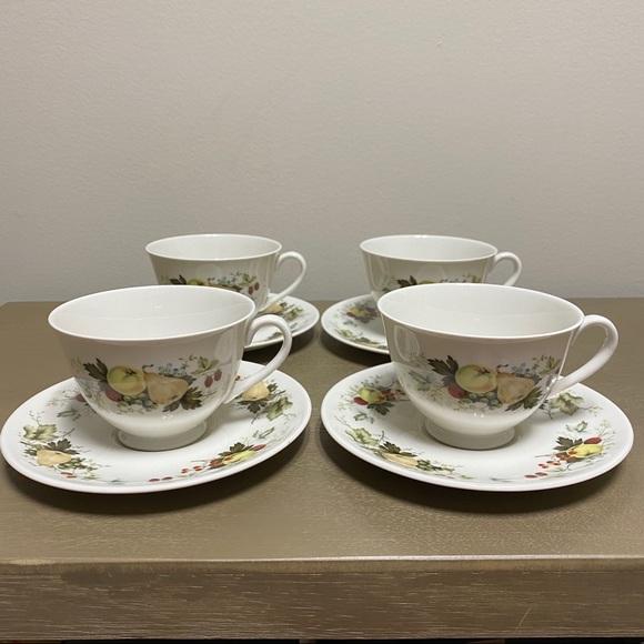 """Miramont"" by Royal Doulton Fruit Teacup + Saucer"